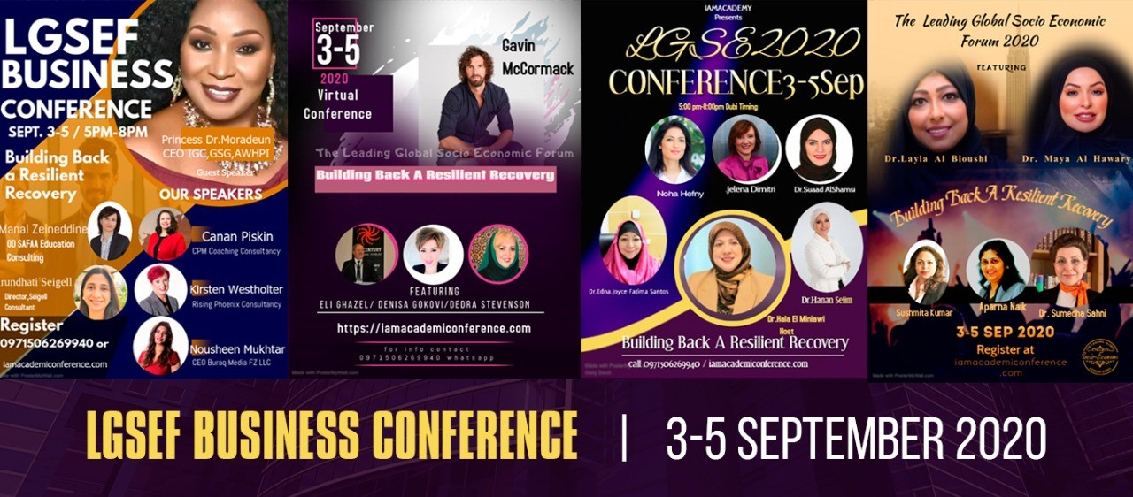 LGSEF Business Conference - The Leading Global Socio Economic Forum 2020