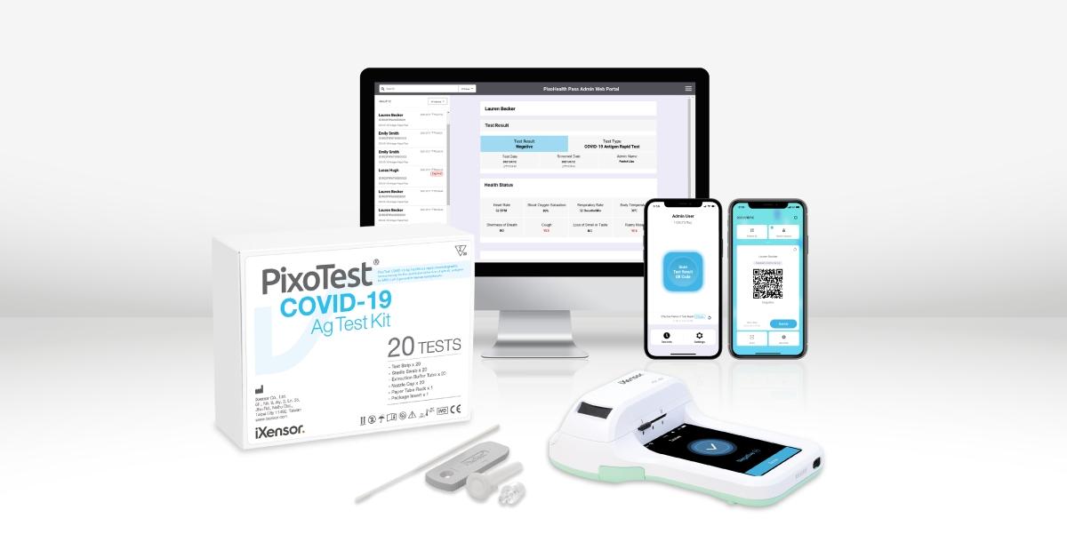 iXensor PixoTest COVID 19 Antigen Test PixoHealth Pass Admin Solution PR - iXensor Levels Up PixoTest® COVID-19 Ag Test With the Launch of PixoHealth Data Management Platform
